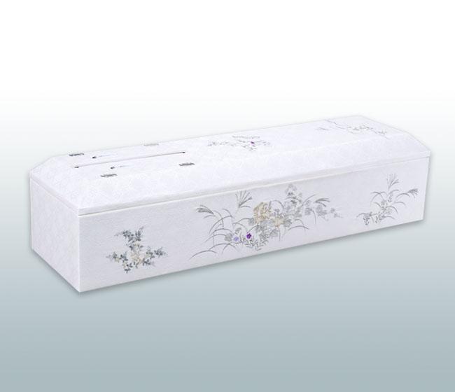 高級刺繍棺 銀花 山型