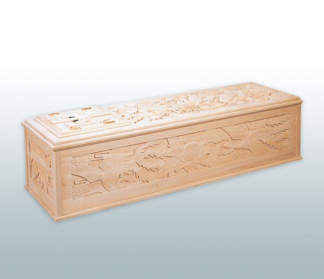 純桐五面彫刻棺