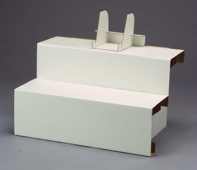 後飾祭壇ダンボール 白 2段セット